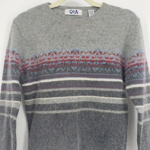 Anthropology Q&A, Lambswool & Angora Sweater